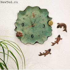 Настенные часы птички на сакуре