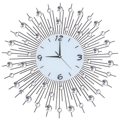 Со стразами настенные  кованые часы