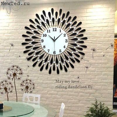 Оригинальные кованые часы на стену