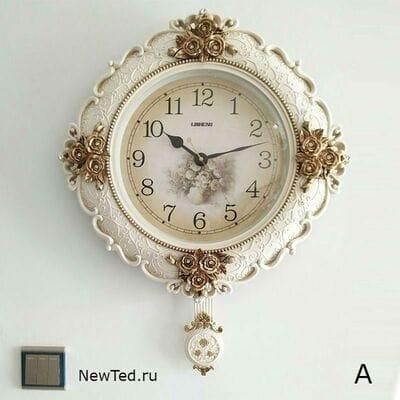 Оригинальные настенные часы прованс