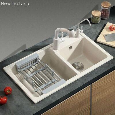 Мойка для кухни из искусственного гранита двойная