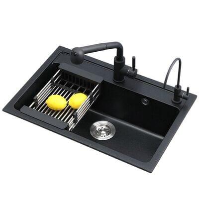 Мойка для кухни из искусственного камня чёрная