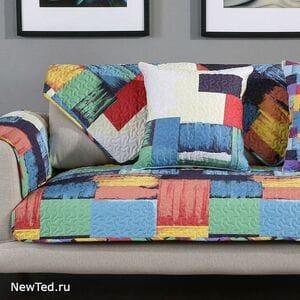 Накидка на диван стиль акварель