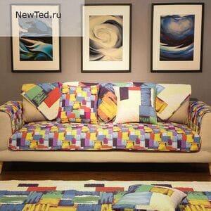 Комплект накидок на диван стиль кисти