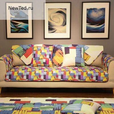 Купить комплект накидок на диван и кресла