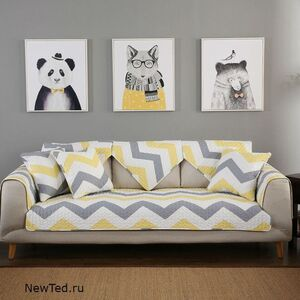 Накидки на диван зигзаг