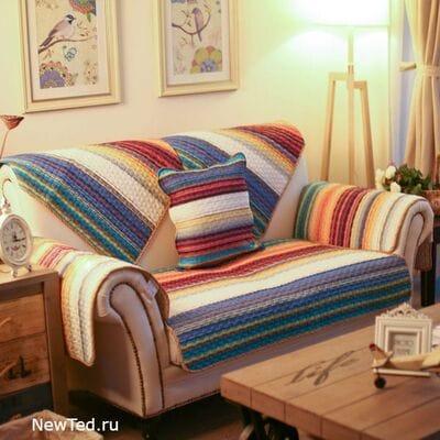 Купить комплект накидок на диван Радуга