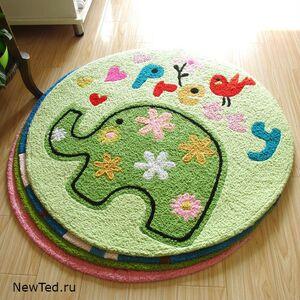 Детский коврик круглый