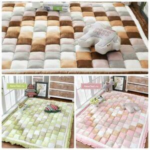 Утолщённый плюшевый коврик