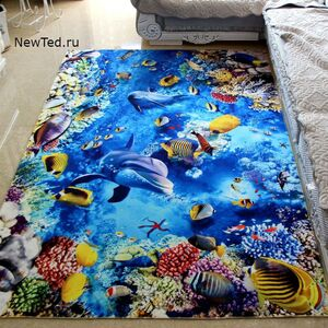 3 D ковер дельфины в коралловом рифе
