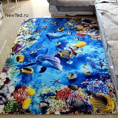 Заказать 3 D ковер Дельфины в Коралловом Рифе