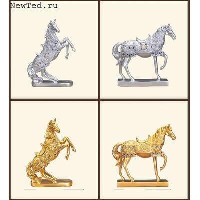 Статуэтки красивых лошадей
