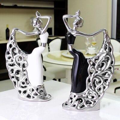 Блестящие статуэтки танцующая пара