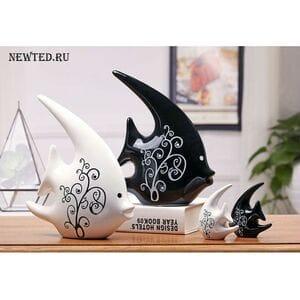"""Набор керамических статуэток """"Рыбки"""""""