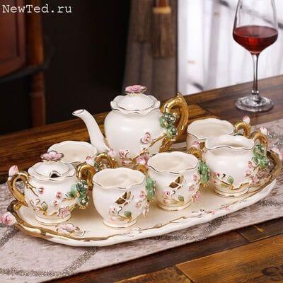 Чайный сервиз с подносом