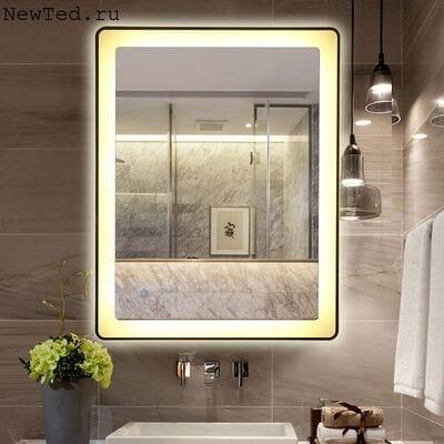 Зеркало в ванную с антизапотеванием и подсветкой