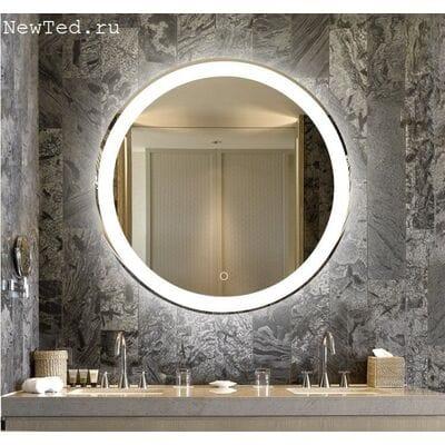 Зеркало круглое с антизапотеванием и подсветкой