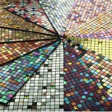 Самоклеющаяся металлическая мозаика 1,5 см.