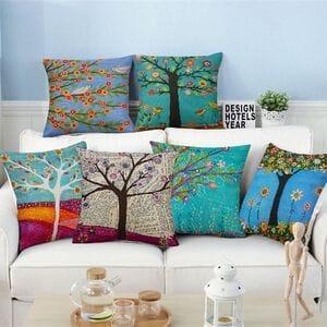Декоративные подушки деревья