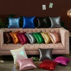 Декоративные подушки  с блёстками