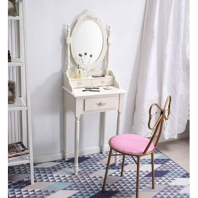 Туалетные столики  с зеркалом белые и слоновой кости