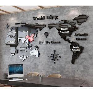 Настенное панно карта мира