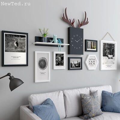 Фоторамки на стену можно заменить фото