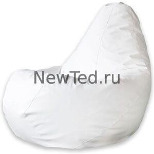 Кресло мешок Белая экокожа