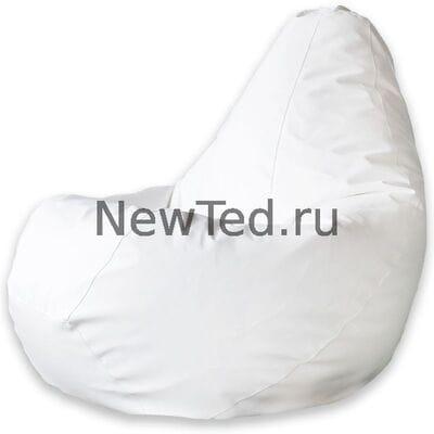 Кресло мешок экокожа белая