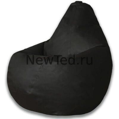 Кресло мешок экокожа черная