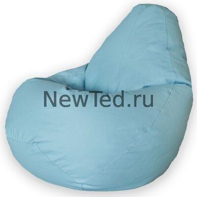 Кресло мешок экокожа голубая