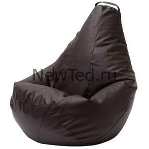 Кресло мешок Коричневая экокожа