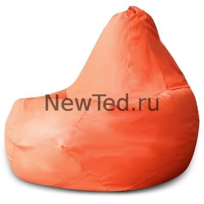 Кресло мешок экокожа оранжевая