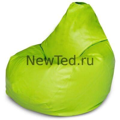 Кресло мешок экокожа салатовая