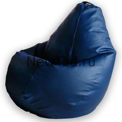 Кресло мешок экокожа синяя