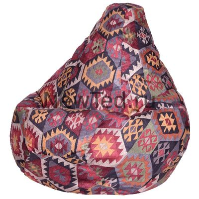 Замечательное кресло мешок Мехико бордовое велюр