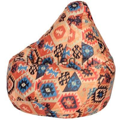 Исключительное кресло мешок Мехико оранжевое велюр