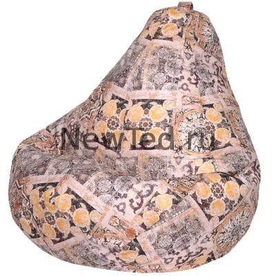 Идеальное кресло мешок Сиена коричневое велюр