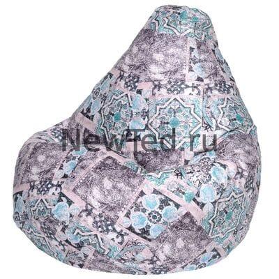 Образцовое кресло мешок Сиена мята велюр