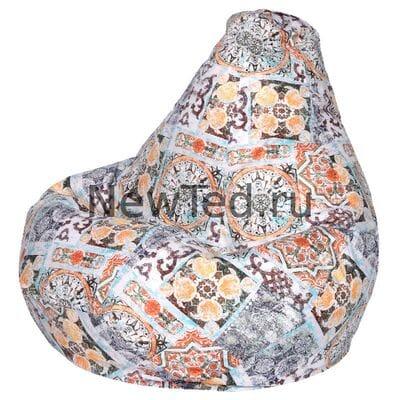 Отменное кресло мешок Сиена терракот велюр