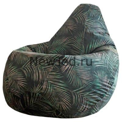 Красивое кресло мешок Тропики велюр