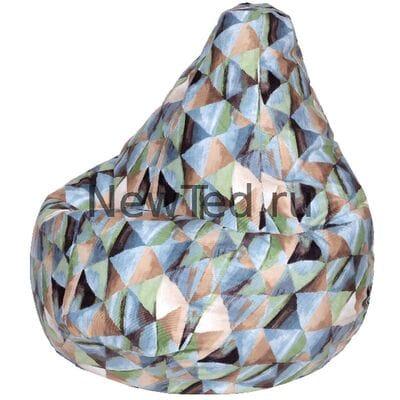 Чудное кресло мешок Твинкли голубое велюр