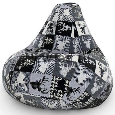 Превосходное кресло мешок Джангл велюр