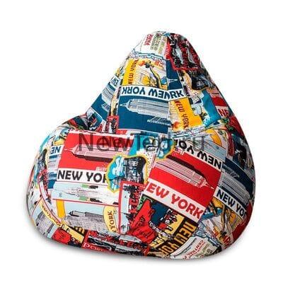 Кресло мешок Нью-Йорк жаккард