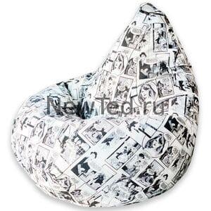 Кресло мешок Комикс чёрно белое