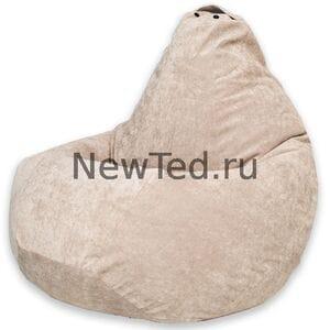 Кресло мешок бежевый микровельвет
