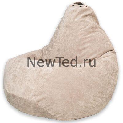 Кресло мешок из микровельвета бежевого