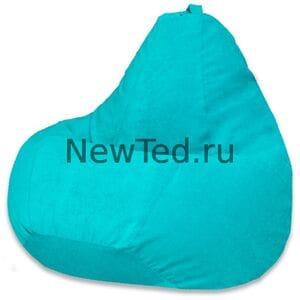 Кресло мешок бирюзовый микровельвет
