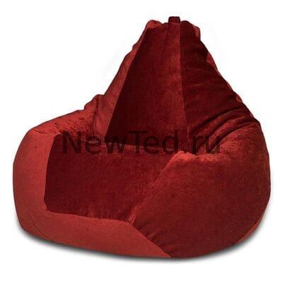 Кресло мешок из микровельвета бордового