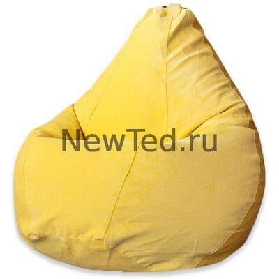 Кресло мешок из микровельвета желтого
